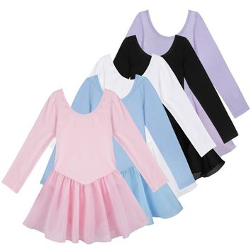 Girls Ballet Dress For Children Dance Costume Kids Girls Ballet Tutu Dresses Gymnastics Leotard Dance Tutu Dress Dancewear