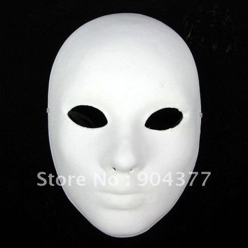 Lot of TEN Blank White Masquerade Women Masks Paper Pulp Full Face