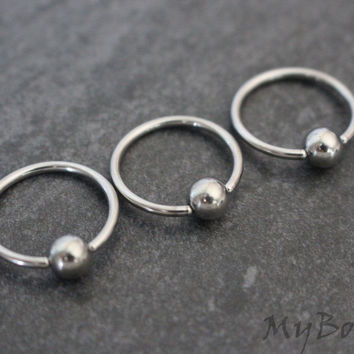 Silver Captive Bead Ring