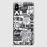 The XxxVampsColdplay And The 1975 Band iPhone X Case