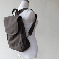 Back To School SALE  - Fortuner Canvas Back Pack in Dark Grey (Water Resistant Insulated) - Satchel / Rucksack
