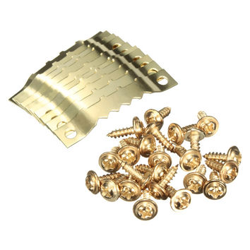 10 Pairs Gold Saw Tooth Hangers Hooks + Screws Golden Picture Painting Saw Hooks Hanging For Photo Paingting Picture Frame New