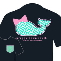 Preppy Whale PDS Brand (Navy Blue T-Shirt)