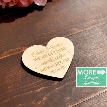 Heart Shaped Save the Date Magnet - SD4