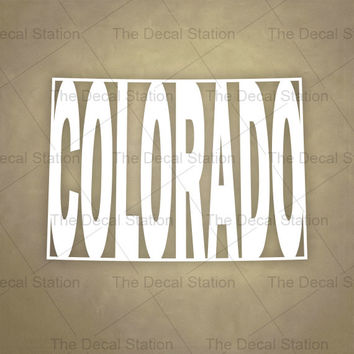 Colorado Vinyl Decal Sticker for Car Truck Auto. Word Art . US State Pride.