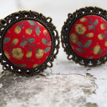 "Tipping The Velvet - Sizes  3/4 (19mm) to 1"" (25mm) romantic vintage plugs for stretched ears"