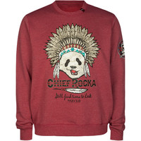 Lrg Chief Rocka Mens Sweatshirt Raspberry  In Sizes