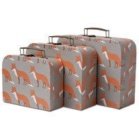 MILKBARN ORANGE FOX SUITCASE SET