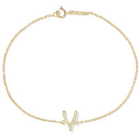 Jennifer Meyer - 18-karat gold diamond wishbone bracelet