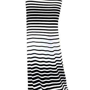 Skirts: VIVICASTLE Women's Asymmetric Striped Fold Over Waist Long Maxi Skirt (Small, A22, blk/ivy)