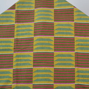 Yellow African Kente Print by yards