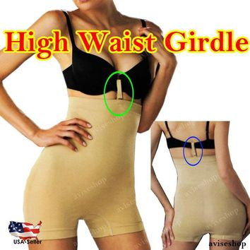 High Waist Tummy Control Girdle Body Slimmer Women Shaper  BOY SHORT Spandex