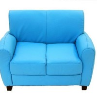 Sky Blue Sofa Loveseat