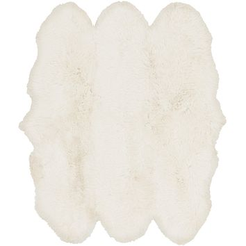 Surya Sheepskin SHS9600 White Animal Area Rug