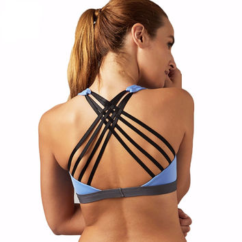 Women Sports Bra Yoga Shirt with Padding Push Up Dry Quick Tank Tops For Running Fitness Gym Bras