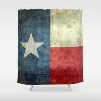"The ""Lone Star Flag"" of Texas Shower Curtain by Bruce Stanfield"