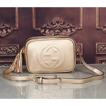 Gucci Women Shopping Fashion Leather Shoulder Bag Crossbody Satchel