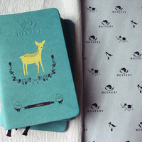 Yellow Deer Pocket Notebook Handmade By Mossery by MosseryCo