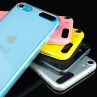 Clear Transparent Gel TPU Case Cover Skin for Apple iPod Touch 5 5G 5th GEN