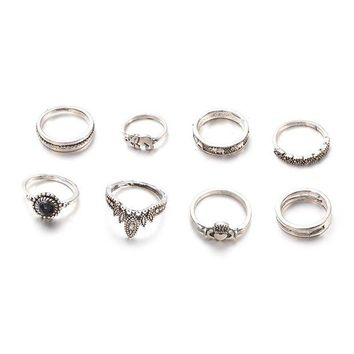 DCKL9 Gift Shiny Jewelry Stylish New Arrival Vintage Crown Diamonds Hot Sale Ring [256908328986]