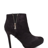 Lawful-s Zipper Trim Pointed Toe Bootie
