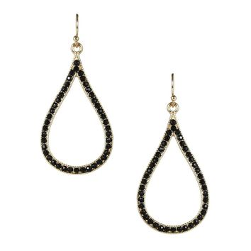 open teardrop earring