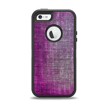 The Grunge Dark Pink Texture Apple iPhone 5-5s Otterbox Defender Case Skin Set