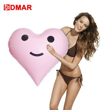 DMAR 45cm Inflatable Heart Giant Pool Float Toys Party Prop Swimming Ring Inflatable Mattress Beach Adult Kids Flamingo Unicorn