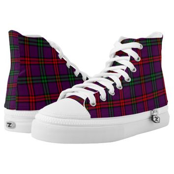 Scottish Tartan Montgomery Plaid High-Top Sneakers