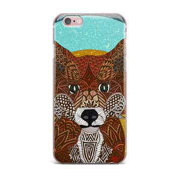 "Art Love Passion ""Colored Fox"" Blue Orange iPhone Case"