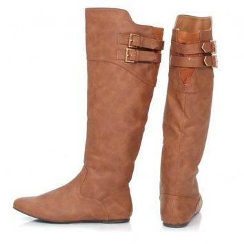 Cognac Walking Tall Riding Boots | Monday Dress Boutique