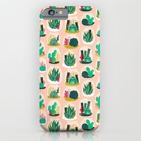 Terrariums - Cute little planters for succulents in repeat pattern by Andrea Lauren iPhone & iPod Case by Andrea Lauren Design | Society6