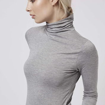 Clean Roll Neck Top - Topshop
