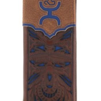 Hooey Men's Blue Cut Out Rodeo Wallet