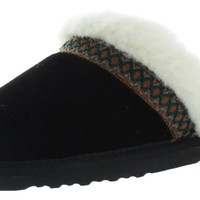 Muk Luks Dawn Women's Suede Sherpa Scuff Slippers Shoes