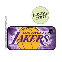 Lakers iphone 5 case iphone 4s case iphone 4s case NBA basketball logo iphone case cover plastic case-112