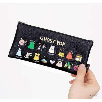 Gunmangzeung Ghost pop cute illustration zipper pouch S