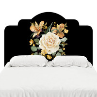 Evening Rose Headboard Decal