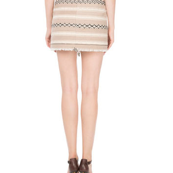Saint Laurent Ikat-Printed Wool Wrap Skirt | Neiman Marcus