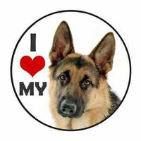 I Heart Love My German Shepard Dog Vinyl Decal Bumper Sticker car truck Macbook