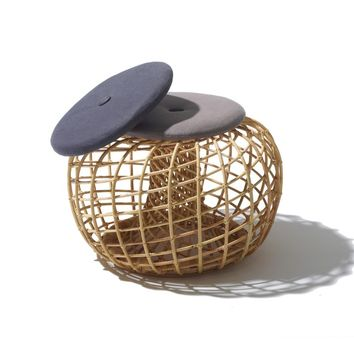 CANE-LINE NEST SMALL FOOTSTOOL