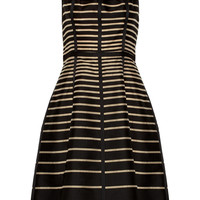 Lela Rose | Striped cotton dress | NET-A-PORTER.COM