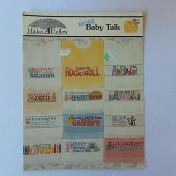 More Baby Talk Cross Stitch Hickory Hollow Leaflet
