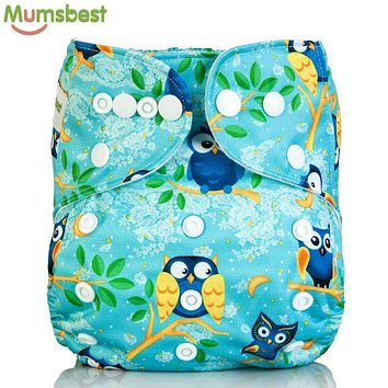 [Mumsbest] New Baby Cloth Diapers Cover One Size Adjustable Baby Cartoon Fox Cloth Nappy Washable Reusable Quick Drying Diapers