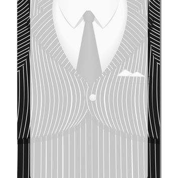 "Pinstripe Gangster Jacket Printed Costume Aluminum 8 x 12"" Dry Erase Board Sign All Over Print"