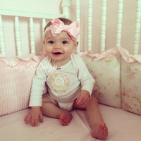Baby Girl Everyday Soft Stretch Headband / Newborn Girls Simple Grosgrain Ribbon 4.5 PINK Bow Headband / More Colors All Sizes