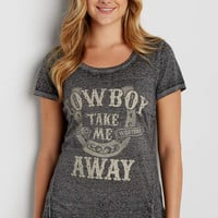 burnout tee with cowboy take me away graphic | maurices
