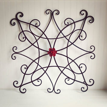 Large Metal Wall Art / Outdoor Metal Wall Art / Outdoor Decor / Fence Decor / Living Room / Black Home Decor / Ornate Wall Decor / Headboard