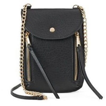 Juicy Couture Small Chain And Zipper Crossbody Black