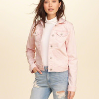 Girls Stretch Denim Jacket | Girls New Arrivals | HollisterCo.com